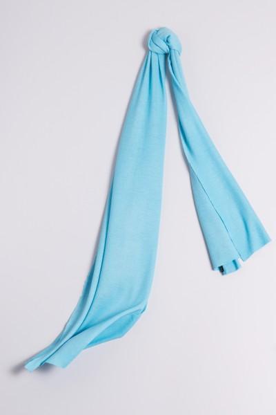 Écharpe cachemire en tricot fin turquoise