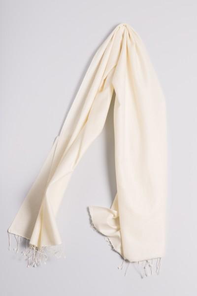 Pashmina 70x200cm laine blanche
