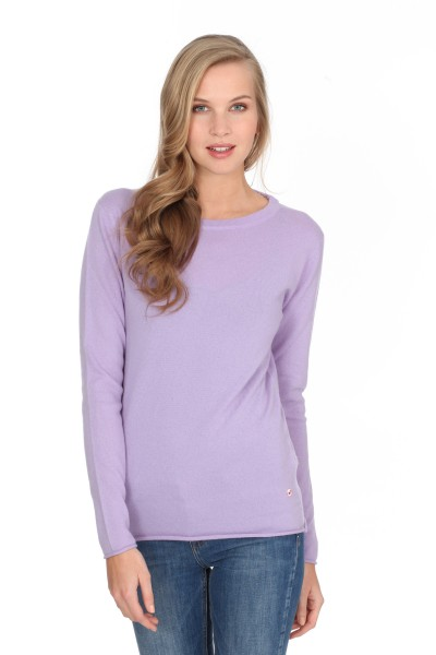 Pull-over en cachemire Longsleeve lilas clair