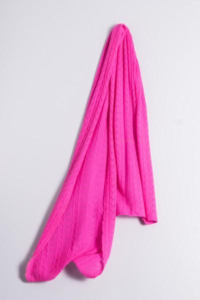 Cable Stitch Shawl pink