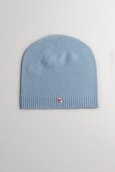 Kaschmirmütze Feinstrick saxe blue