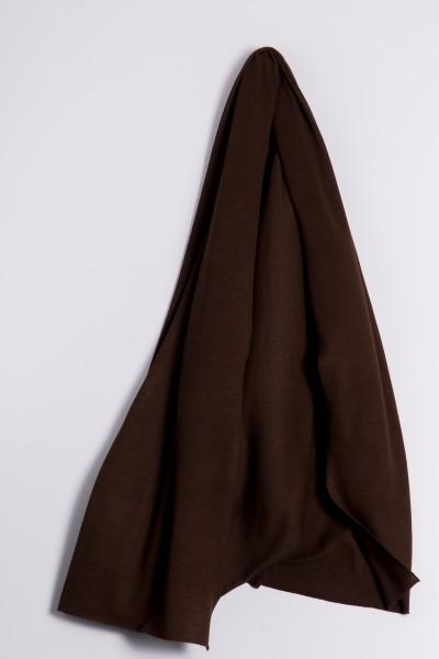 Étole cachemire en tricot fin marron