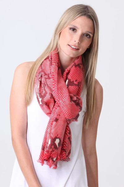 Pashmina Couture Print Python formula rouge