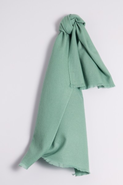 Pashmina 100% cachemire offgreen