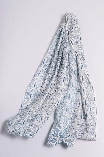 Écharpe côtelée de Francfort moroccan blue