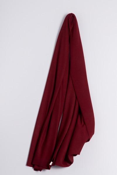 Étole cachemire en tricot fin bordeaux