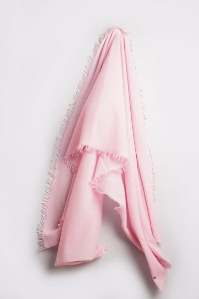 Strickschal Tokuma 100% Kaschmir Barely Pink