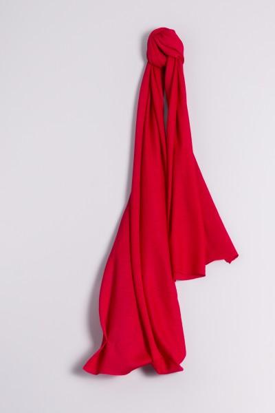 Écharpe cachemire en tricot fin framboise