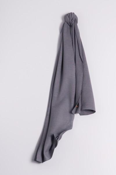 Écharpe cachemire en tricot fin anthracite