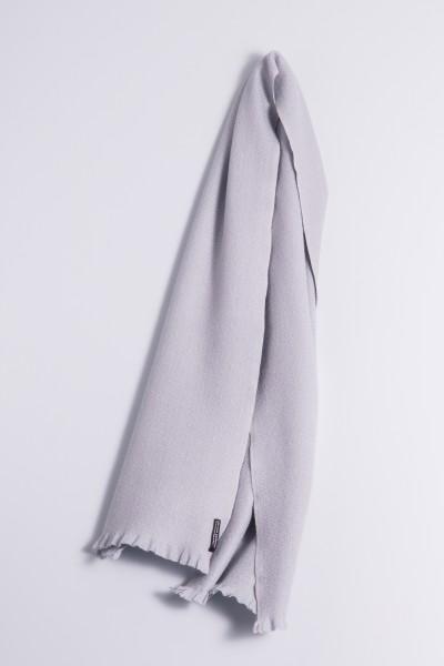 Écharpe d´hiver 100% cachemire gris argenté
