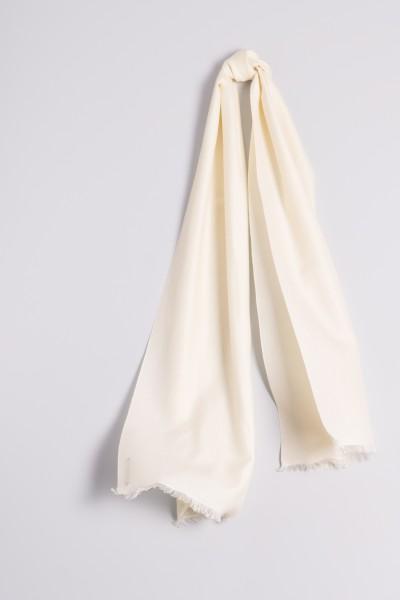 Pashmina 45x180cm laine blanche