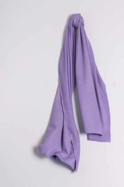 Écharpe cachemire en tricot fin lavande